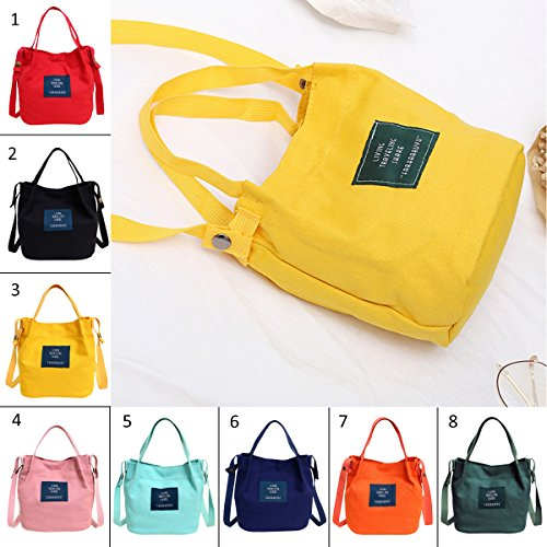 Bag Handle Canvas Crossbody Shoulder Magnetic Fanspack Casual for Tote Top Small Bag Snap Women Handbags Red Rwxq878B