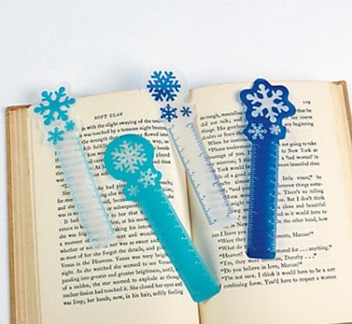 (12 ~ Snowflake Ruler Bookmarks ~ Approx. 5.25