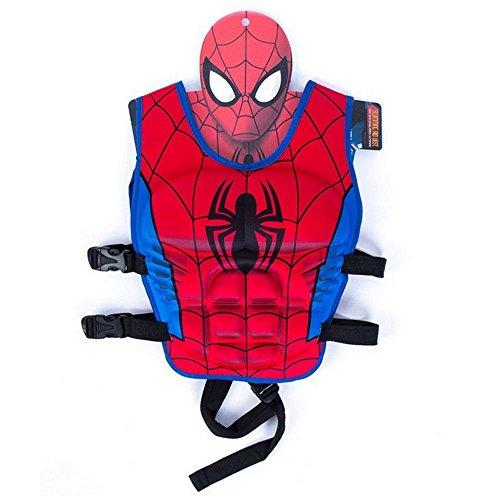 Spider Man Water Sports Vest (Children Float Swimming Aid Life Jacket Spiderman Learn-to-Swim Buoyancy Aid Vest (Spiderman))