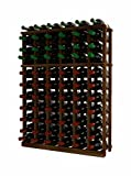 Wine Cellar Innovations TR-DW-HH-A3 Traditional Series 6 Column Individual Half Height Wine Rack, Premium Redwood, Dark Walnut Stain