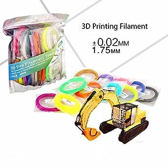 OBOR Filamento de impresión 3D, 20 colores (2 colores de luz de ...