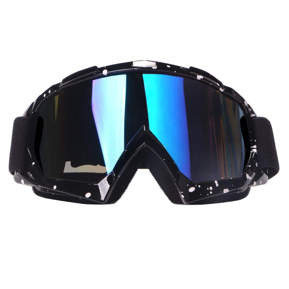 4-FQ Motorcycle Goggles Dirt Bike Goggles Motocross Goggles Windproof Dustproof Scratch Resistant Ski Goggles Protective Safety Glasses PU Resin