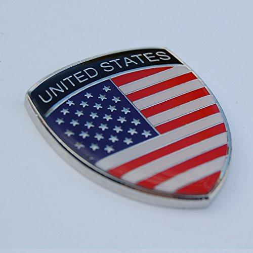 Amazing USA America Show Quality Metal Decorative Emblem Decal Ornament 1.5