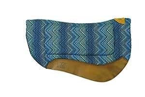 Weaver Leather All Purpose Contoured Barrel Saddle Pad, Blue