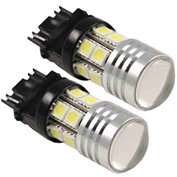 2pcs 3156 7W Cree With Projector 12 SMD 12V LED Replacement Light Bulbs 3056