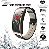 ZEERKEER Smart Watch Activity Tracker with Heart Rate Monitor, IP67 Waterproof Smart Bracelet with Calorie Counter, Blood Pressure Monitor,Pedometer for Women and Men
