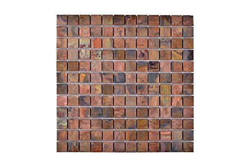 Legion Furniture MS-COPPER21 Mosaic With Mix Wall Tile, (Copper Mosaic Flooring)