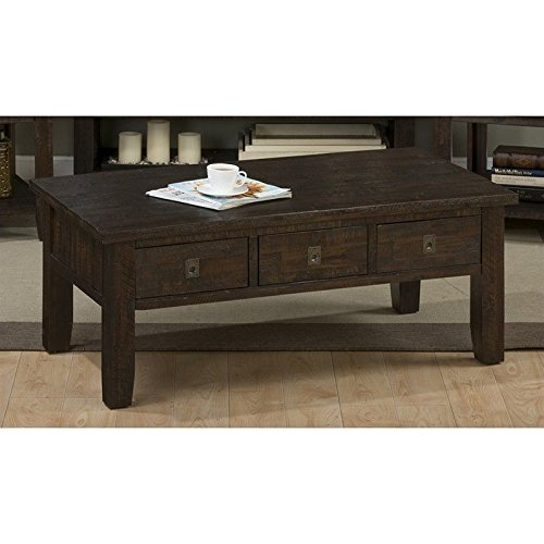 Jofran Kona Grove Rectangle Coffee Table in Deep Chocolate