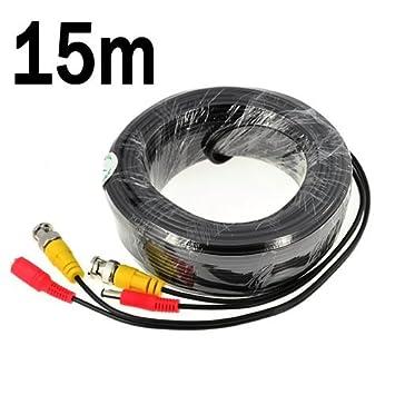 Cable de alimentación de vídeo BNC (para cámara CCTV/sistema de seguridad DVR)
