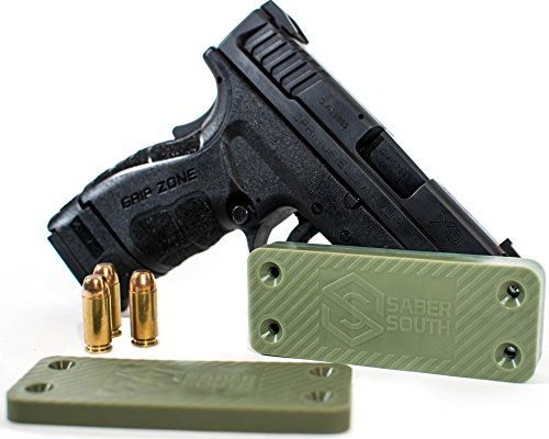 Military-Grade Gun Magnet 2-Pack | 40lbs Rated | HQ Rubber Coated Magnetic Gun Mount For Handgun, Shotgun, Rifle. Easy Conceal in Car, Truck, Safe. Strong Magnetic Holster. Tactical Firearm Accessory. -