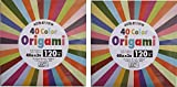 2x40 Color Origami - 120 Sheets