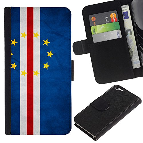 EuroCase - Apple Iphone 6 4.7 - Cape Verde Grunge Flag - Cuir PU Coverture Shell Armure Coque Coq Cas Etui Housse Case Cover