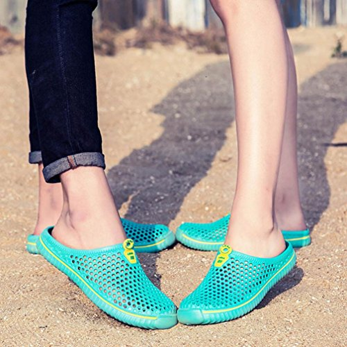 HLHN Unisex Slippers Barefoot Shoes,Hollow Out Couple Mesh Quick Drying Breathable Sandals Men Women Sport Outdoor Beach Mint Green
