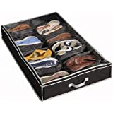 Richards Homewares Gearbox Sixteen Cell Shoe Organizer-Black/Grey