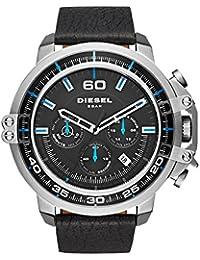 Men's DZ4408 Deadeye Stainless Steel Black Leather Watch