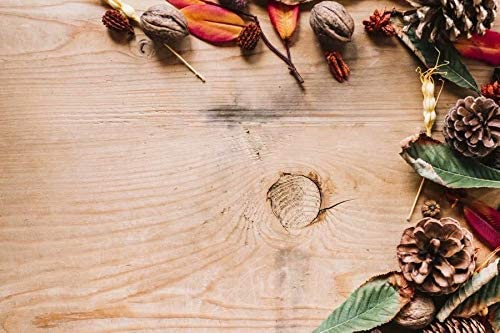 Pine Cones and Natural Wood Boards Wedding Baby Photography Background Custom Photography Studio Photography Background