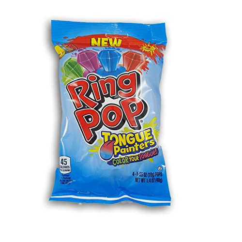 Bazooka NEW RING POP TONGUE PAINTERS BAG 4-0.35 OZ Net Wt 1.4 OZ (40g)