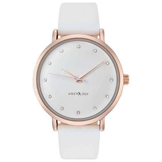 Amazon.com  WRISTOLOGY Olivia Womens Rose Gold Crystal Wrist Watch ... 2ff8ae62d