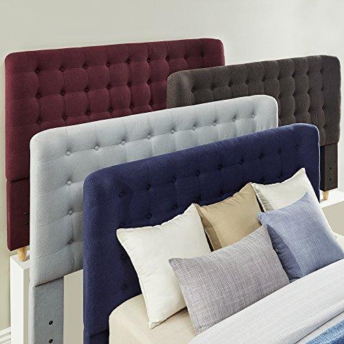 Inspire Q Niels Danish Modern Tufted Fabric Upholstered King Size adboard Modern 511wVPfHi0L