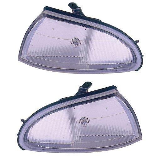 1993 1997 Geo Prizm Corner Park Light Turn Signal Marker Lamp Pair Set Left Driver And Right Passenger Side  1993 93 1994 94 1995 95 1996 96 1997 97