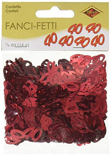 Fanci-Fetti 40 Silhouettes (red) Party Accessory  (1 count) (.5 Oz/Pkg)
