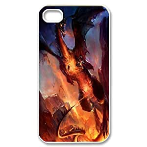 UNI-BEE PHONE CASE For Iphone 4 4S case cover -Dragon & Beast-CASE-STYLE 14