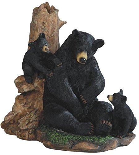 StealStreet SS-G-54266 Black Bear Playing with Cubs Figurine, (Black Bear Figurine)