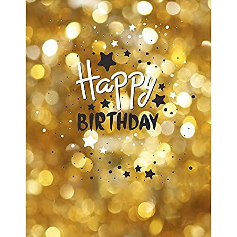 5ftx7ft Happy Birthday Oro photocall cumpleaños Fondo de ...