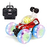 RC Stunt Car,Invincible Tornado Twister Remote Control Truck,360 Degree Spinning and Flips with Led Light & Music for Kids Boys Girls Festival Gifts