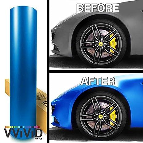 Amazon com: VViViD Matte Pearl Blue Car Wrap Vinyl Roll with Bubble
