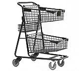 Advance Carts 100x-Black-3pack XPress Series Shopping Cart, 100 L, Black Powder Coat (Pack of 3)