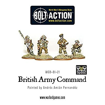 28mm Bolt Action (British) - British Command (4) by Warlord Games by Warlord Games