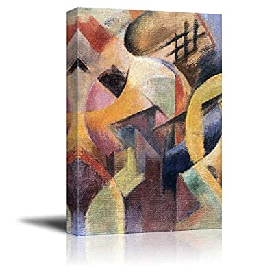 Small Composition I Abstract Painting by Franz Marc, Classic Design, Magnificent Object of Art
