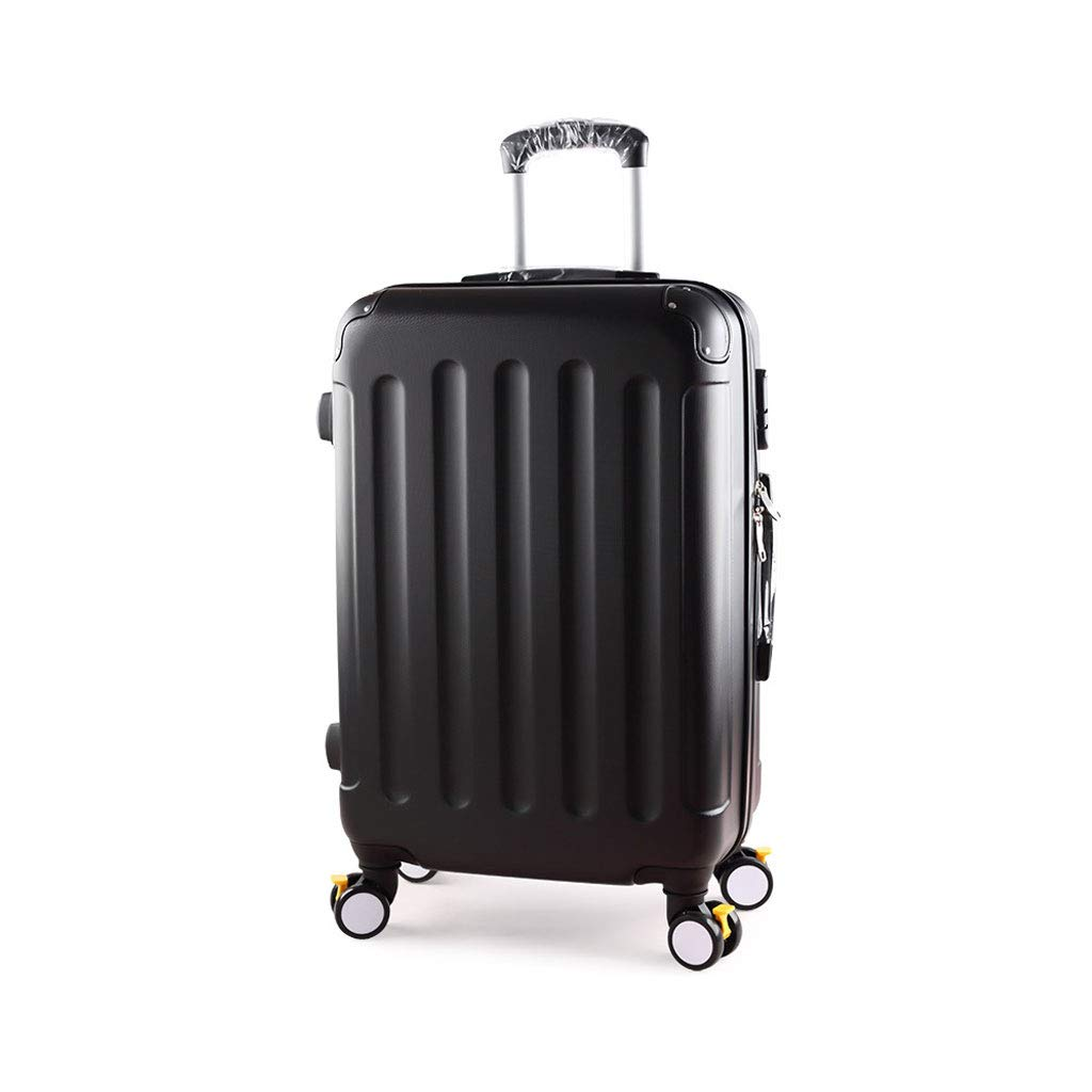 キャリーオン荷物超軽量ABSハードシェル旅行は4つのホイール、航空&詳細情報のために承認されたハードシェルトロリーサイズのアドオンキャビンハンド荷物スーツケースキャリー B07P55W9GF  34cm*21.5cm*55cm