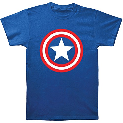 Men's Royal Blue Captain America Shield Tee Shirt Azul Royal