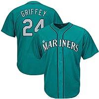 GMRZ Camiseta MLB Hombre, Beisbol Jersey con Seattle Mariners # 24 Griffey Diseño Logo Ropa Deportiva Equipo De Béisbol…
