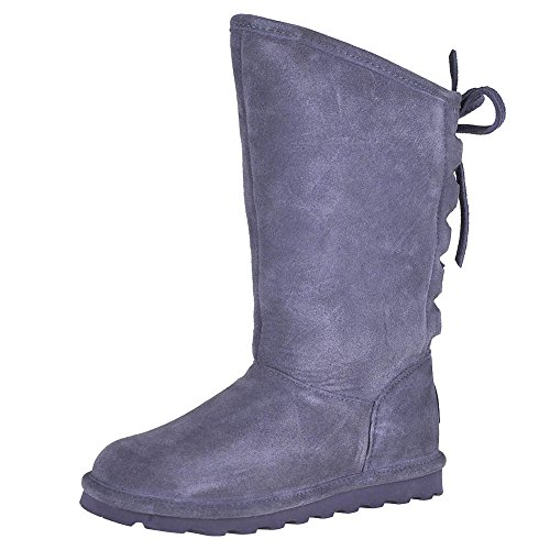 (BEARPAW Womens Phylly Closed Toe Mid-Calf Cold Weather Boots, Charcoal, Size)