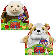 Pop Out Pets: Get 3 Stuffed Animals in One - Parrot, Frog & Monkey and Bulldog, Golden Labrador & Beagle