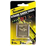 #8: Bussmann BP/MAS-3A 3 Amp Glass Fast Acting Cartridge Fuse 125V Ul Listed In Buss Yellow Packaging, Carded, 5 Pack,