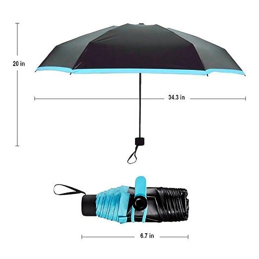 Mini Regenschirm Taschen Kompakter Faltbarer Reise Sonnenschirm Uv