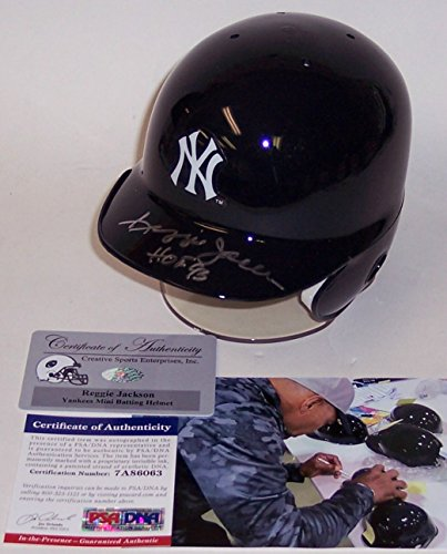 Reggie Jackson Autographed Hand Signed NY New York Yankees Mini Batting Helmet - with Hall of Fame 93 Inscription - PSA/DNA
