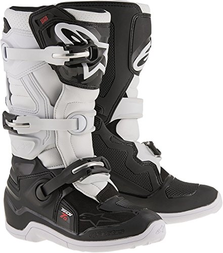 Alpinestars Unisex-Child Tech 7S Youth Boots (Black/White, Size 3)