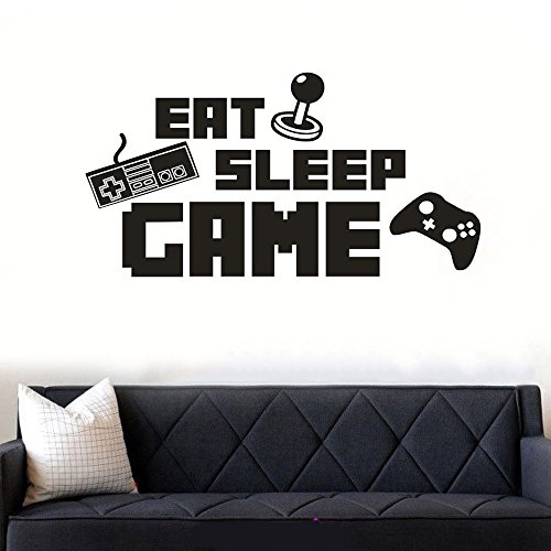 Eat Sleep Game Wall Sticker Decal Kids Room Home Dcor Cool Funny Wall Art