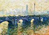 Waterloo Bridge, London- Monet - CANVAS OR FINE PRINT WALL ART