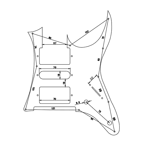 Amazon Com Fastmusic H S H Mirror Rg Pickguard Fits For Ibanez Rg