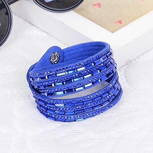 Model BRCLT 148 Hemau New Fashion Wrap Braided Wristband Cuff Punk Men Women Bracelet Bangle Leather