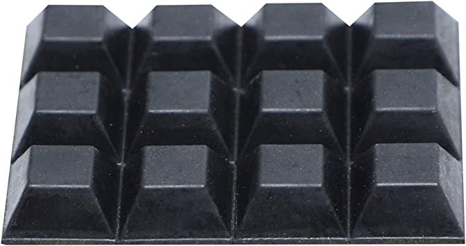 Square Self Adhesive Rubber Pads for Furniture12mmx12mmx6mm 12 in 1