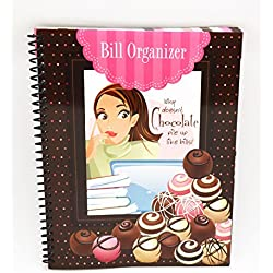 Monthly Bill Paying Organizer Budget Book with Pockets - Chocolate Dreams