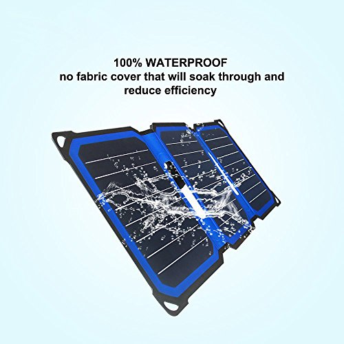 SUNLIT Charger Foldable   Technology     Resistant Stand   5V USB Solar Panel iPad Galax, Note, Nexus, HTC