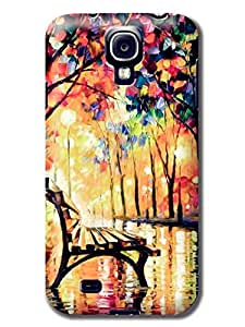 The Fine Craft&Creative Lonely Bench in Park Hard Back Skin for Samsuang Galaxy S4